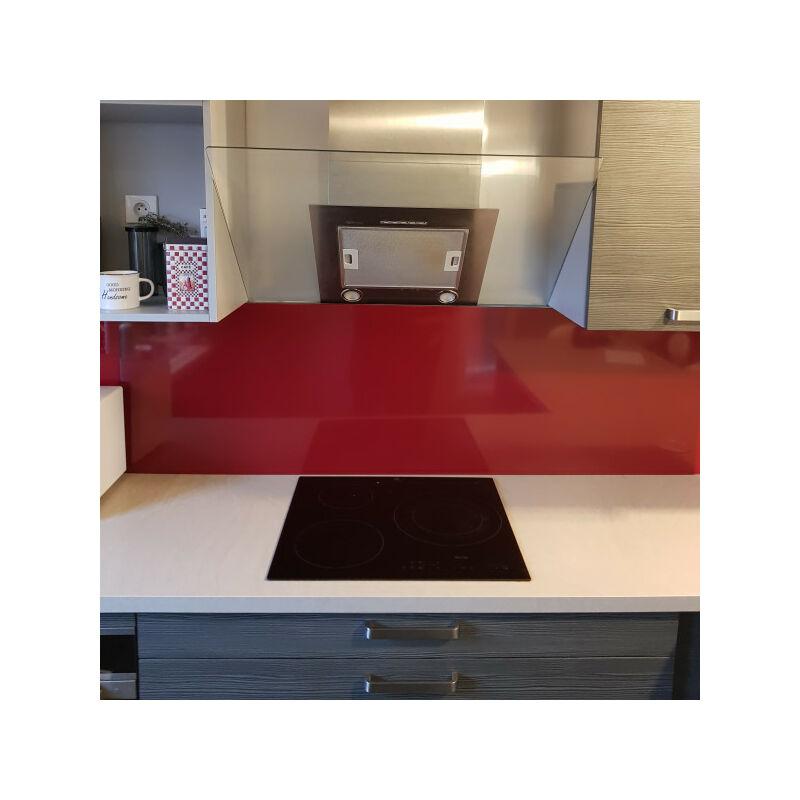 ALUCOULEUR Fond de Hotte / Crédence Rouge Pourpre RAL 3004 H 45 cm x L 120 cm de 1,5 mm