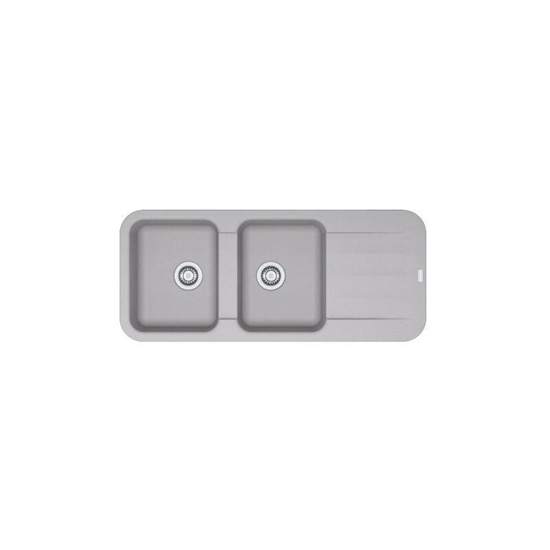Franke - Evier PEBEL FRAGANIT PEG621 Platinum (sous meuble 80mm) 1160x500x200mm