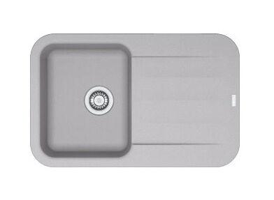 Franke - Evier PEBEL FRAGANIT PEG611-78 Platinum (sous meuble 45mm)