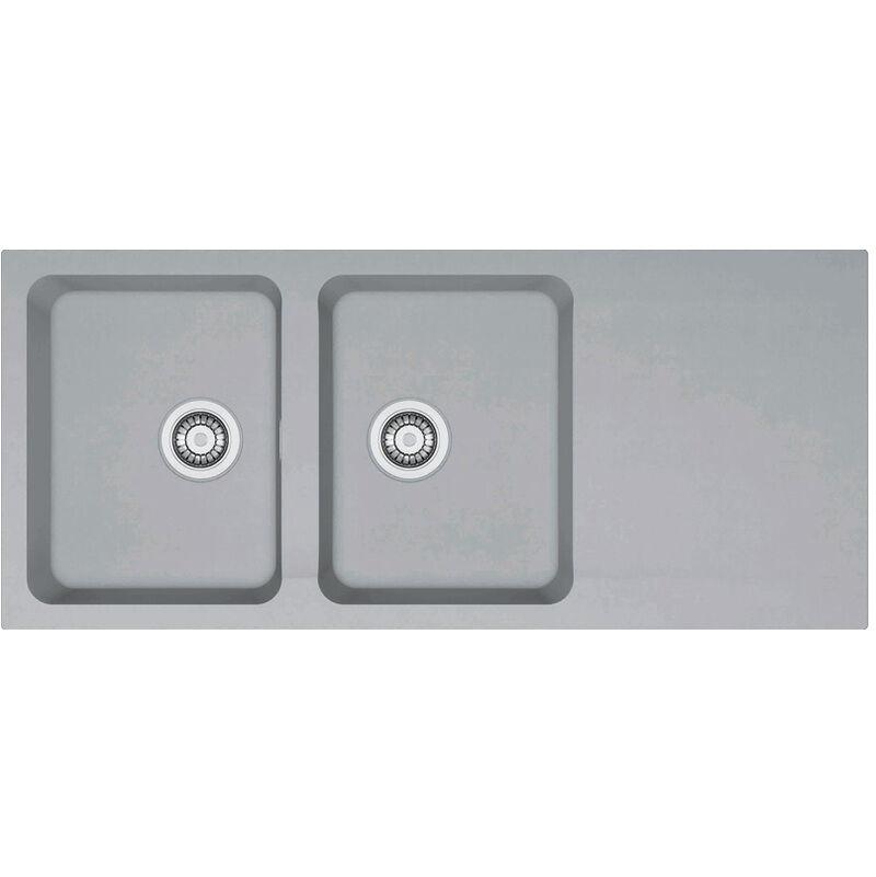 FRANKE Evier ORION OID621 Titanium (sous meuble 80cm) 1160x510x190mm