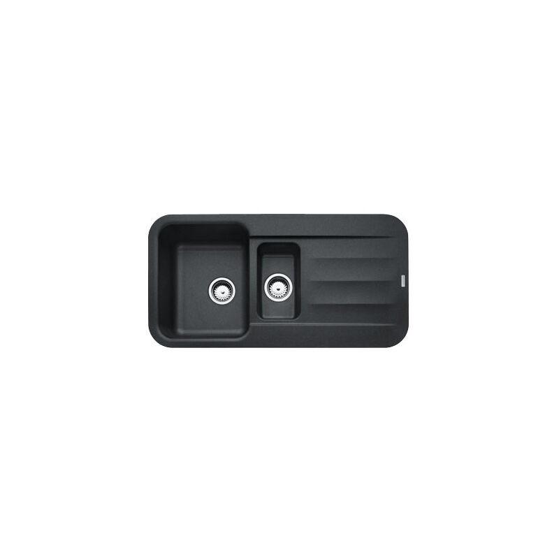 FRANKE Evier PEBEL FRAGANIT PEG651 Onyx (sous meuble 60mm) 970x500x200mm