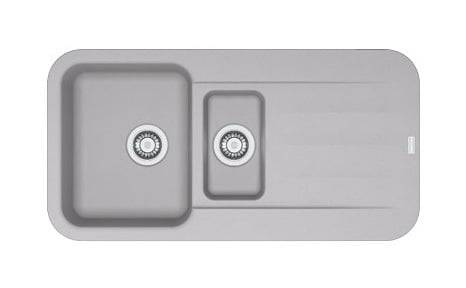 FRANKE Evier PEBEL FRAGANIT PEG651 Platinum (sous meuble 60mm) 970x500x200mm