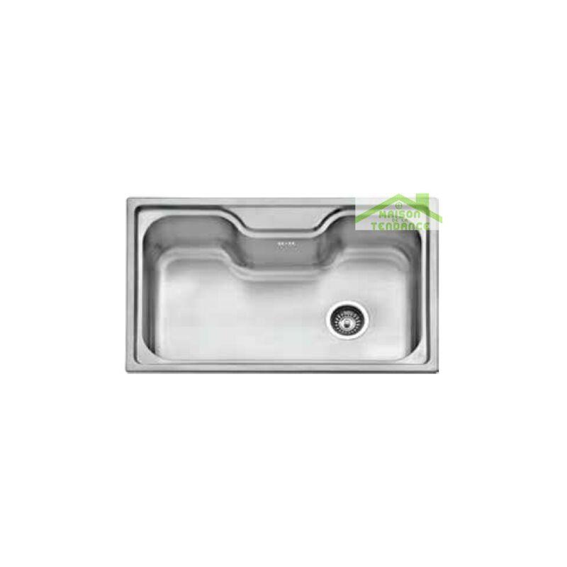 Karag - Grand évier en acier inoxydable BACHACHE + bonde et siphon 80x50 cm
