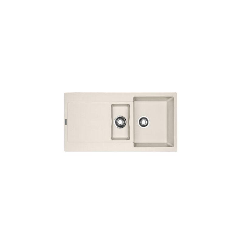 Franke - Evier MARIS FRAGANIT MRG651 Vanilla (sous meuble 60cm) 970x500x205mm