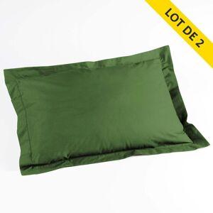 Douceur D'intérieur - Lot 2 taies d'oreiller volant plat 50x70 100% coton 57 - Publicité