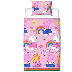PEPPA PIG Ensemble de lit (Lit simple) (Rose) - Peppa Pig - Publicité