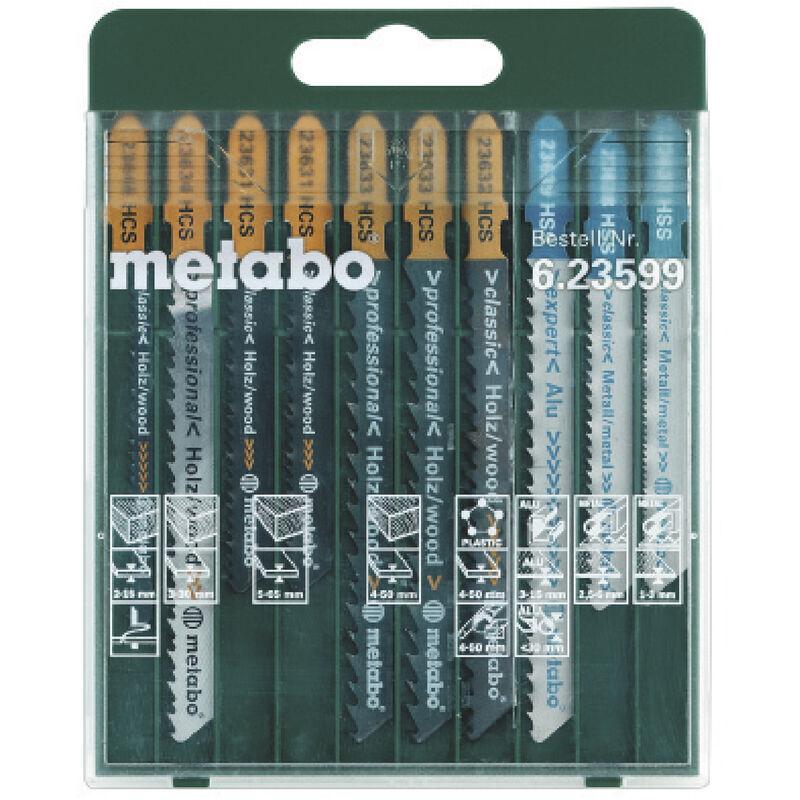 Metabo Assortiment de lames de scie sauteuse - SP 10 pièces