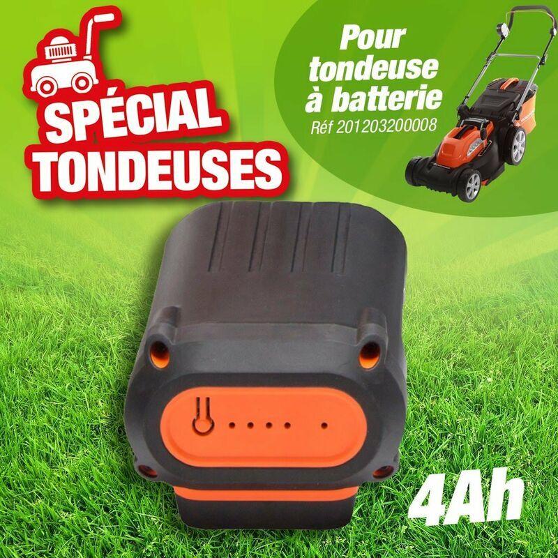 Outiror – Batterie 4 Ah accessoire complémentaires pour la tondeuse référence 201203200008