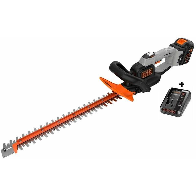 BLACK & DECKER Taille haies BLACK ET DECKER DUALVOLT 54V 2Ah lame 60cm GTC5455PC chargeur 2A