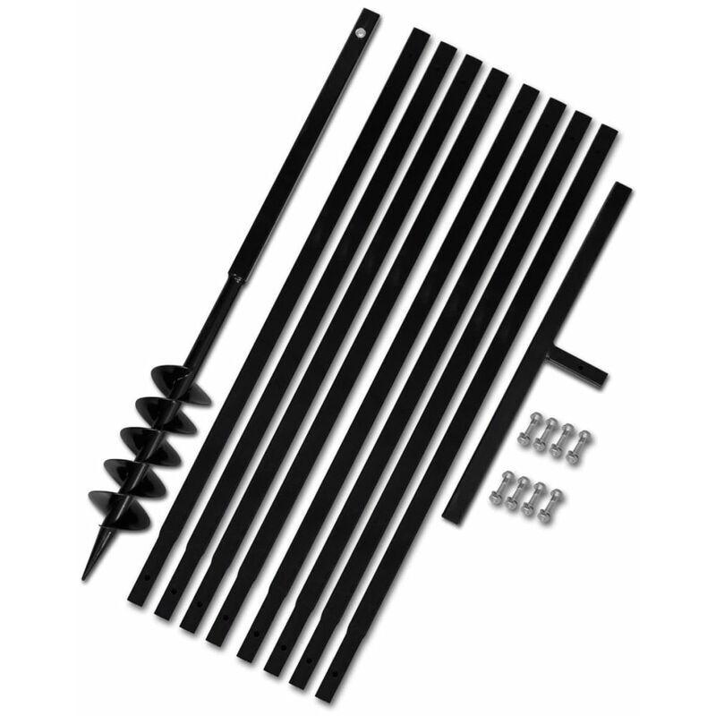 ASUPERMALL Beche et tariere manuelle 100 mm Avec Rallonge meche tariere 9 m