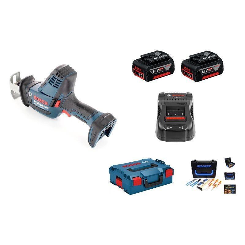 Bosch GSA 18 V-LI C Scie sabre à batteries 18V Li-Ion (2x batterie 5.0Ah) dans