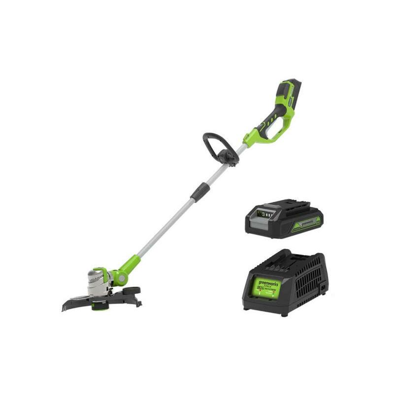 GREENWORKS Coupe bordure 25-30cm GREENWORKS 24V - 1 batterie 2.0 Ah - 1 chargeur