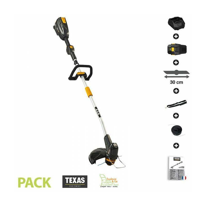 TEXAS Coupe bordure sans fil sur batterie 4ah 58v chargeur tête fil débroussailleuse