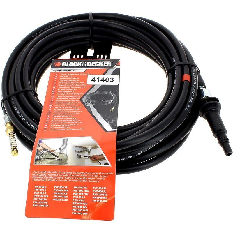 BLACK & DECKER Deboucheur canalisations 10m pour Nettoyeur haute pression Black & decker,