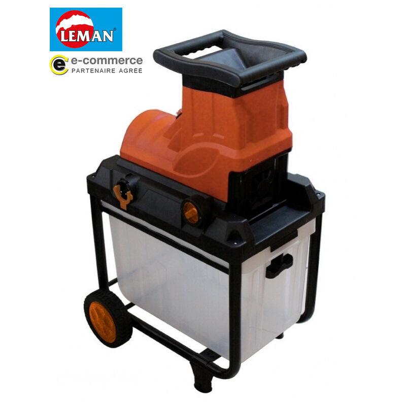 PROMO Leman – Broyeur végétaux électrique 2800W 45mm – LOBRE045