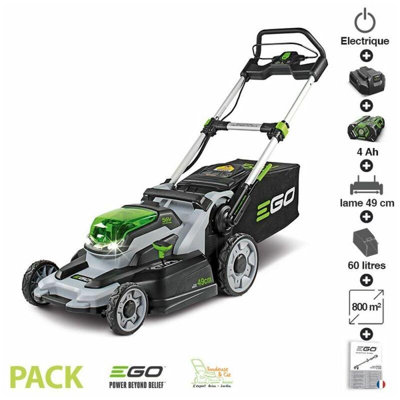 Pack tondeuse à gazon à batterie 4Ah chargeur rapide coupe 49 cm Ego Power+ LM2001E