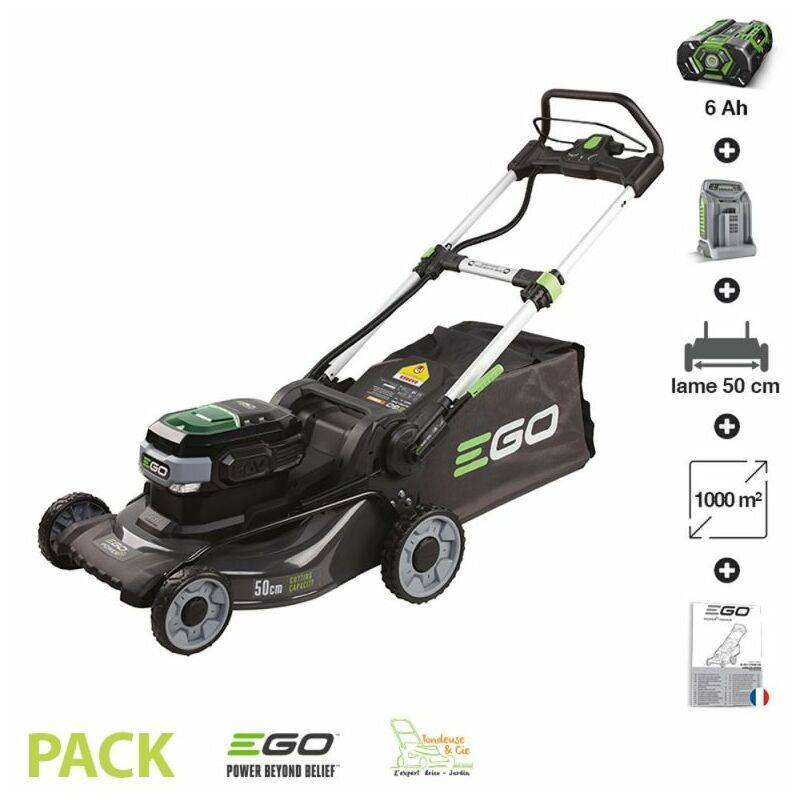 Ego Power+ - Tondeuse à gazon sans fil à batterie Ego Power coupe 50cm batterie