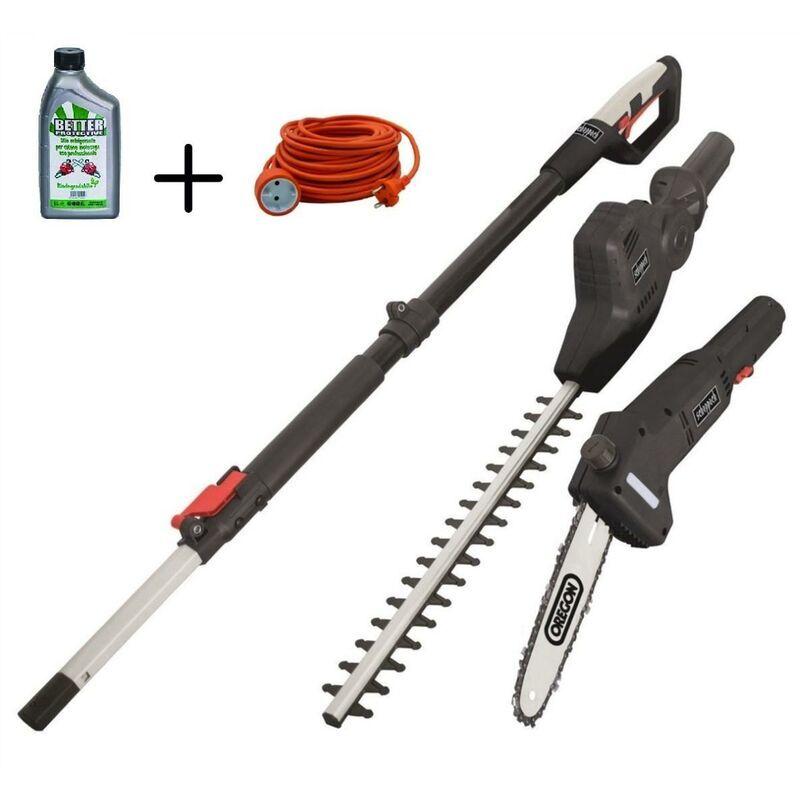 SCHEPPACH Electrique Taille-Haie Scheppach Tpx710 + Câble Extension 20 Mt + Huile Chaîne