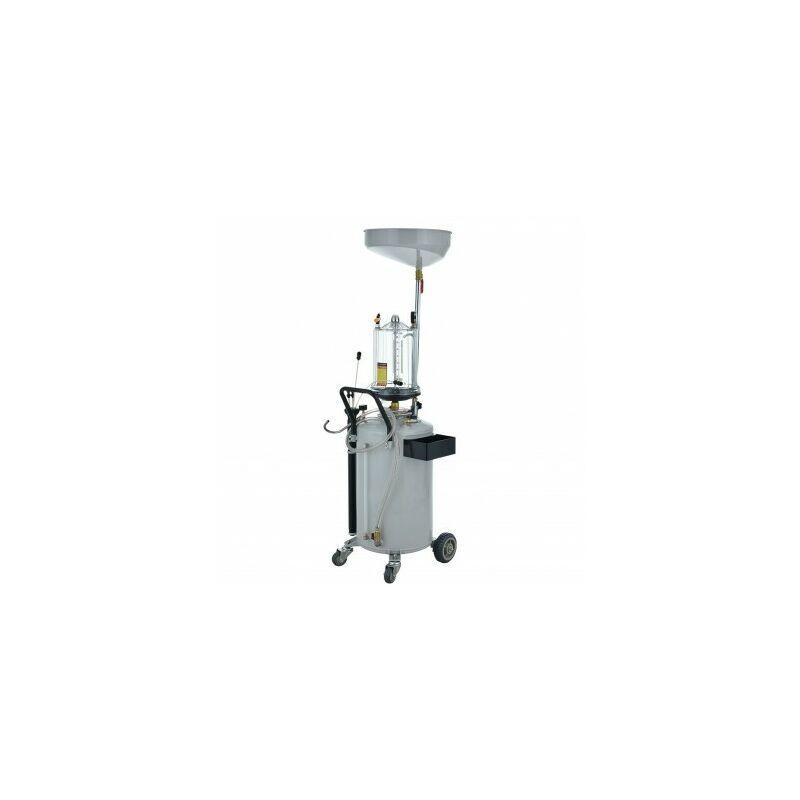 Trad4u - Extracteur d'huile pneumatique Récupérateur d'huile 72L avec sortie