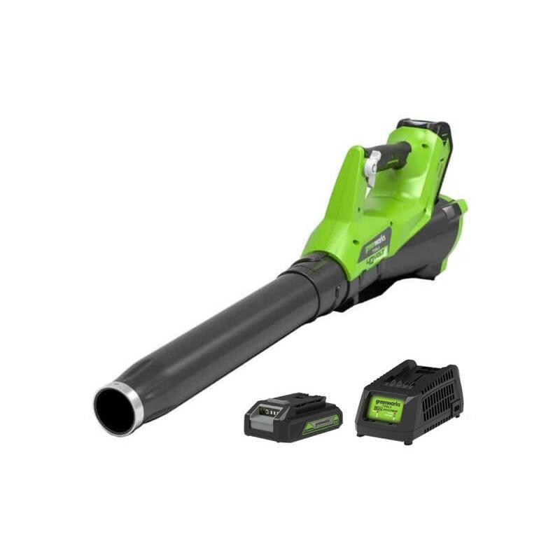 Souffleur GREENWORKS 40V – 1 batterie 2.0 Ah – 1 chargeur – G40ABK2