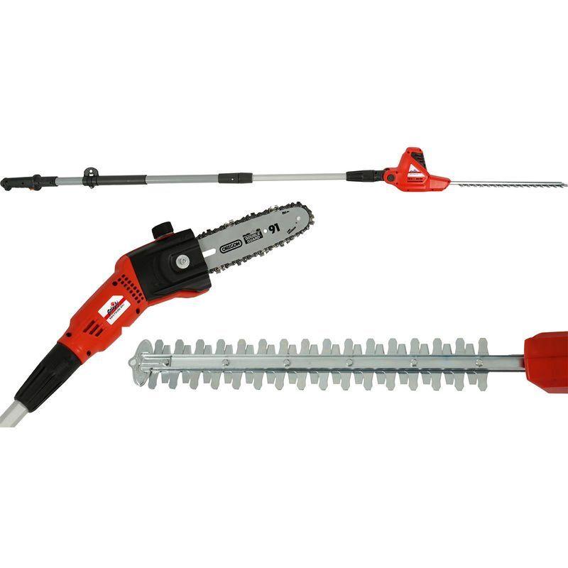 Grizzly Tools KSHS 710-500 2in1 Poussoir électrique et ciseaux télescopiques,