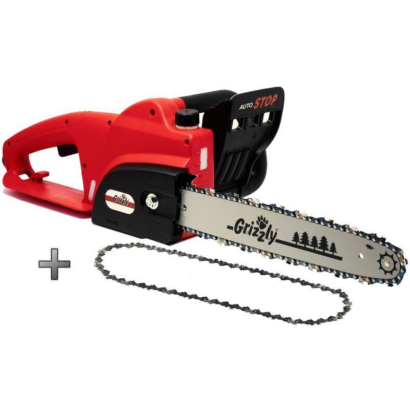 Grizzly Tools Tronçonneuse électrique 1800 W,en métal, chaîne Autom. Lubrifiant
