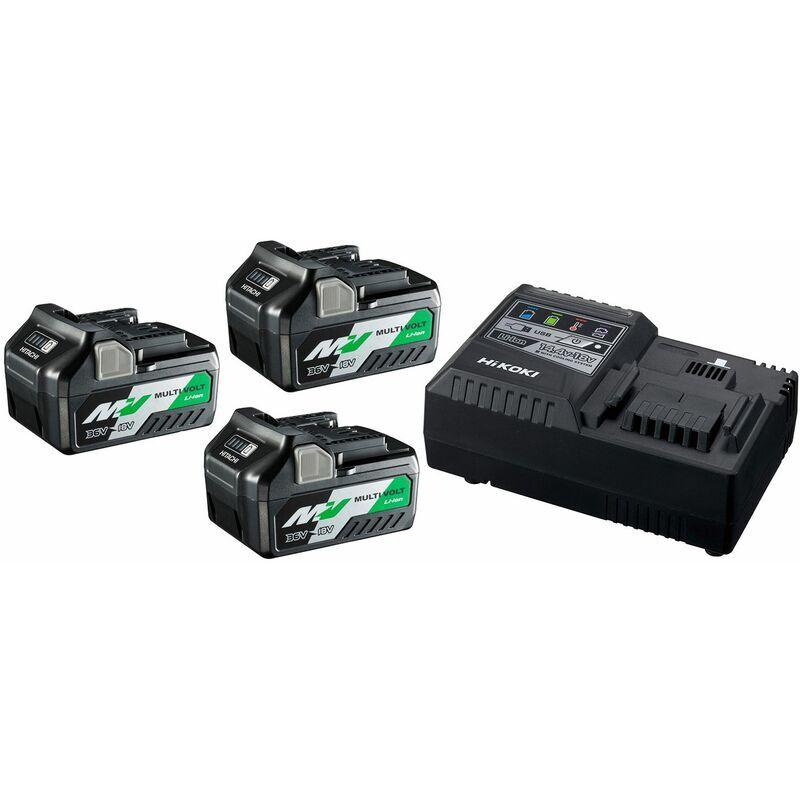 HiKOKI UC18YSL3WA3 BoosterPack Multi-Volt - (3 x 5Ah)18V - 2,5Ah 36V - chargeur