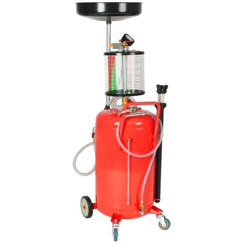 Hommoo Pompe à vidange d'huile usagée 70 L Acier Rouge HDV07841