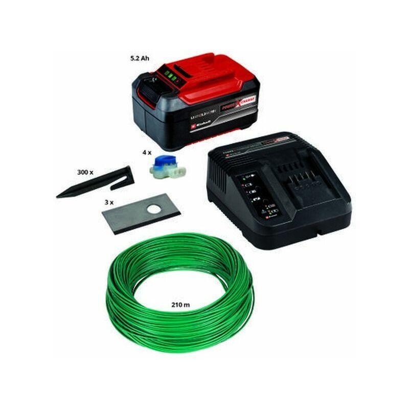 Einhell – Kit d'installation 1200 m² pour robot tondeuse – batterie, lames de rechange