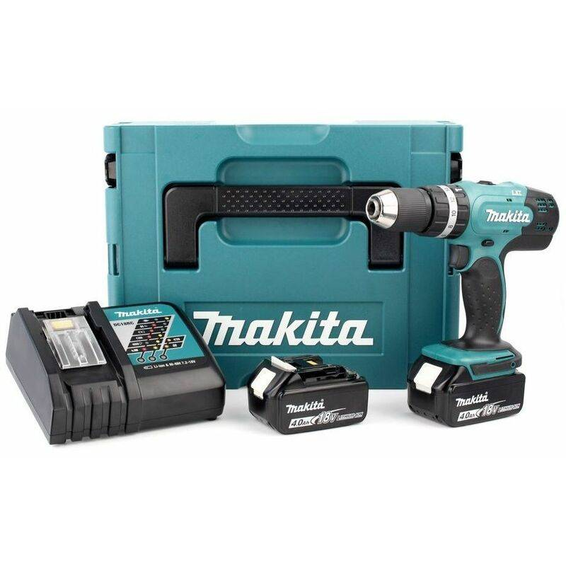 Makita DHP453RMJ Perceuse visseuse à percussion 18V Li-Ion (2x batterie 4.0Ah)