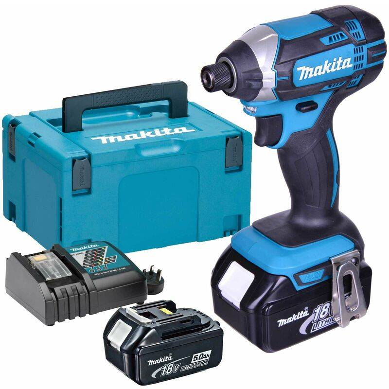 Makita DTD146RTJ Visseuse à chocs à batteries 18V Li-Ion set (2x batterie