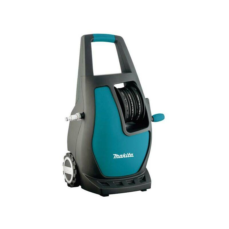 Makita HW111 Compact Electric 370l/h 1700W Noir, Turquoise Nettoyeur haute pression ou Hydrocleaner – Nettoyeur haute pression (Compact, électrique,