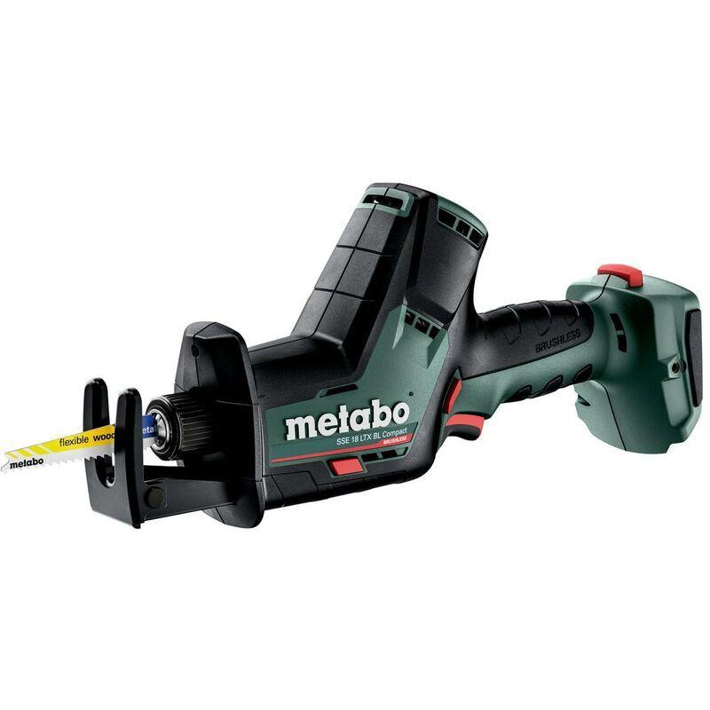 Metabo Scie sabre sans fil SSE 18 LTX BL Compact, carton, sans batterie et
