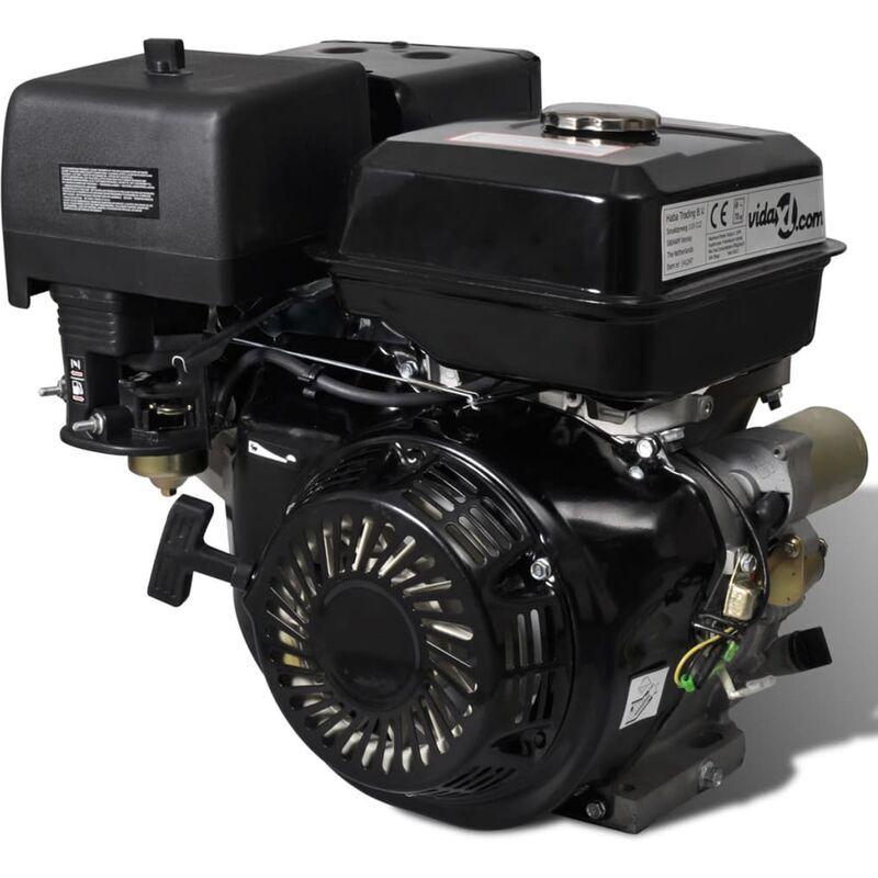 Moteur à essence 15 HP 9,6 kW Noir – ZQYRLAR