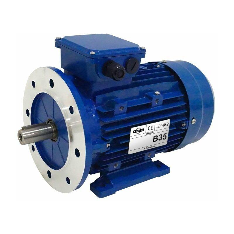 CEMER Moteur electrique 0,12 kW 1000 tr/min 230/400V triphasé CEMER MS - Bride B35