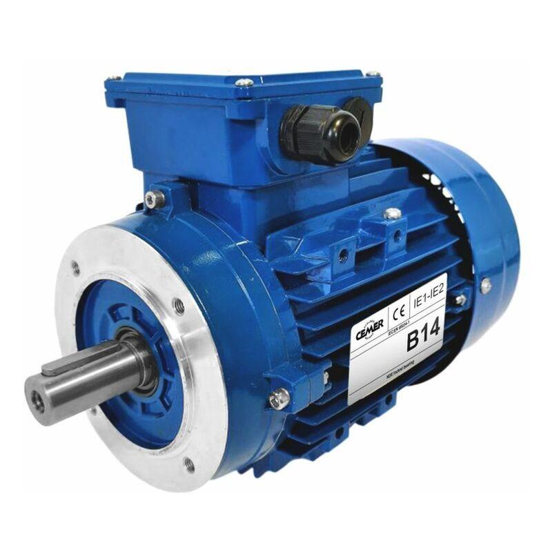 CEMER Moteur electrique 0,12 kW 1000 tr/min 230/400V triphasé CEMER MS - Bride B14