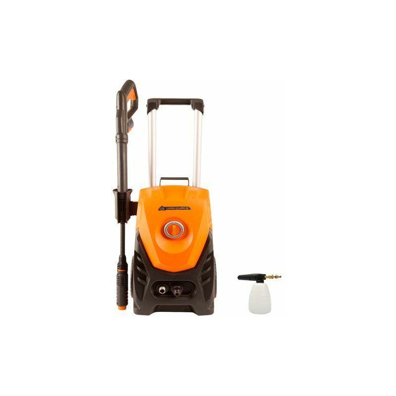 Yard Force – Nettoyeur Haute-Pression avec Canon à mousse et accessoires – 1800w / 130Bar