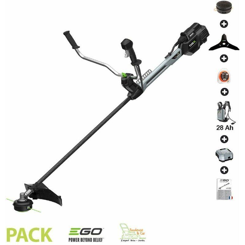 Ego Power+ – Pack débroussailleuse PRO batterie dorsale 28Ah arbre carbone Egopower BCX3800E