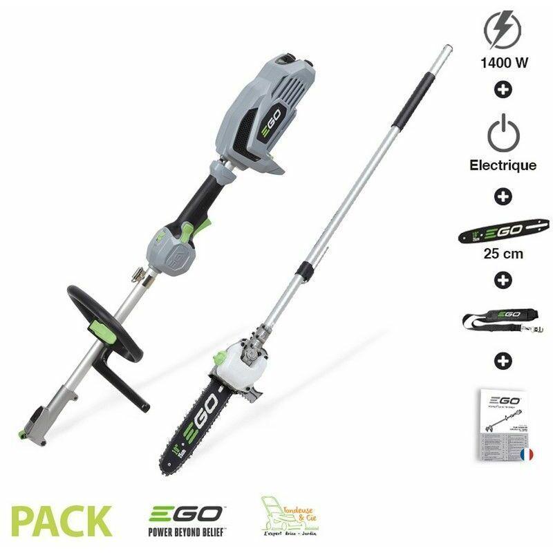 EGO POWER+ Pack multifonction élagueuse sur perche sans fil guide Oregon 25cm Ego Power+