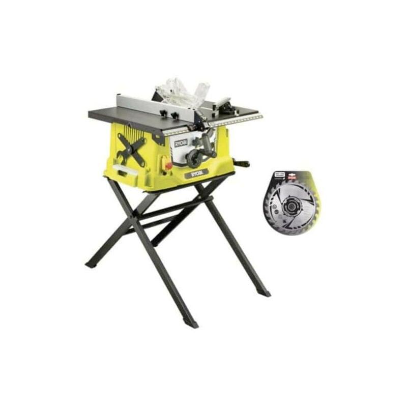 RYOBI Pack scie sur table électrique 1800W 254mm piètement rétractable RTS1800S