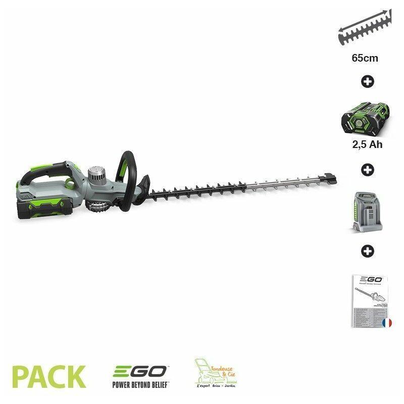 Pack taille-haies sans fil avec batterie 5Ah et chargeur inclus EGO POWER HT6500E-P – EGO POWER+
