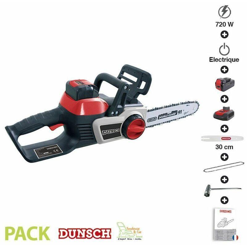 DUNSCH Pack tronçonneuse électrique sans fil 40V guide chaine Oregon 30 cm - Dunsch
