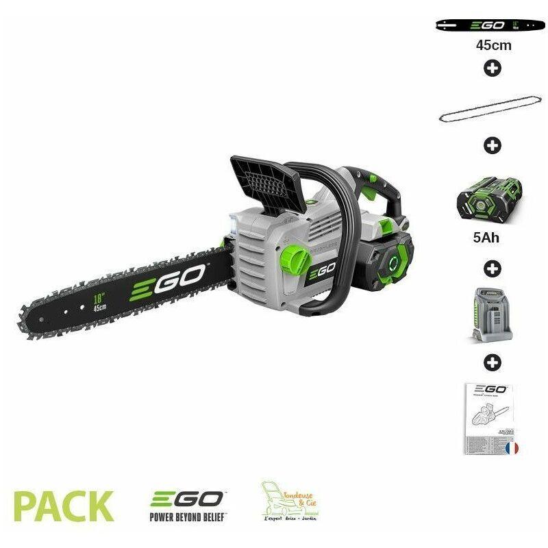 Ego Power+ - Pack tronconneuse sans fil avec batterie et chargeur guide Oregon