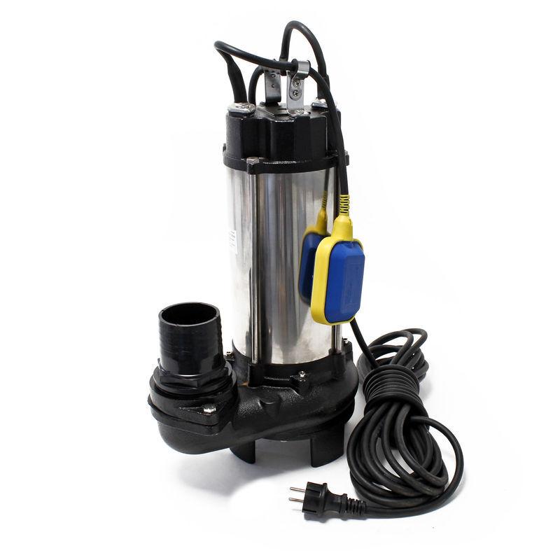 WILTEC Pompe pour eaux sales flotteur broyeur de végétaux 31200l/h 2,2 kW Hauteur max.