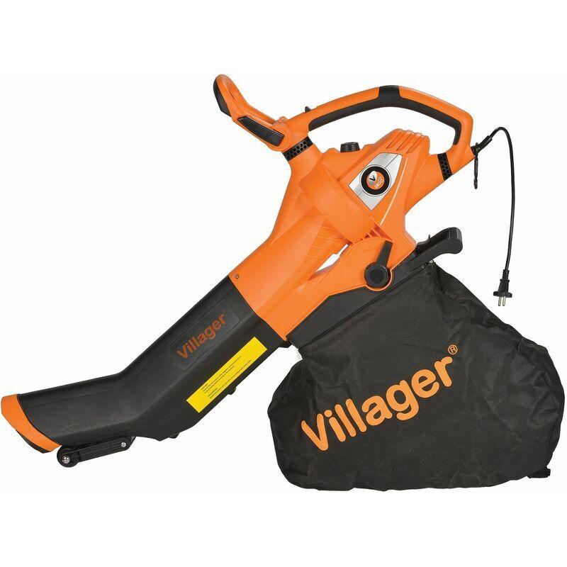 Souffleur aspirateur de feuilles électrique 3000W 960m3/h Villager VEBV 3000