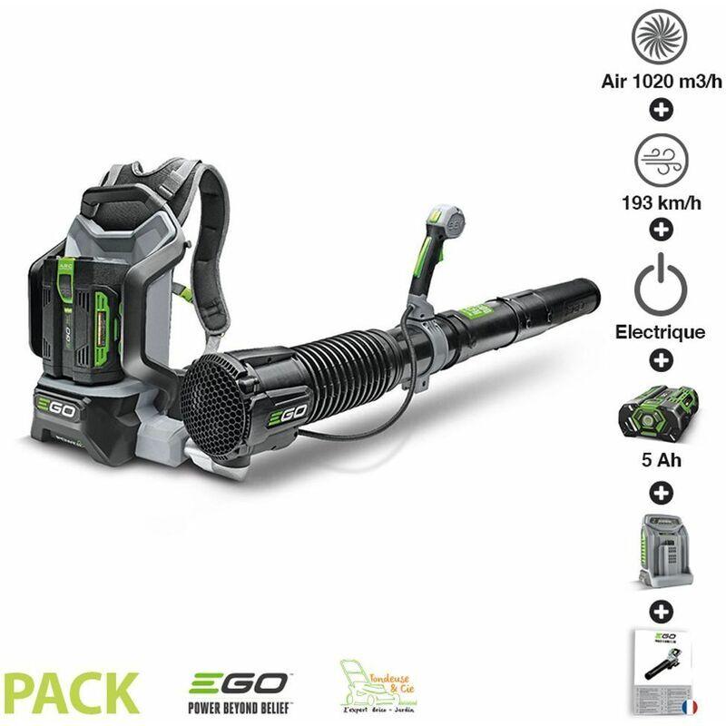 Ego Power+ – Pack souffleur professionnel 1020m3 heure batterie dorsale 5ah chargeur rapide LB6002E