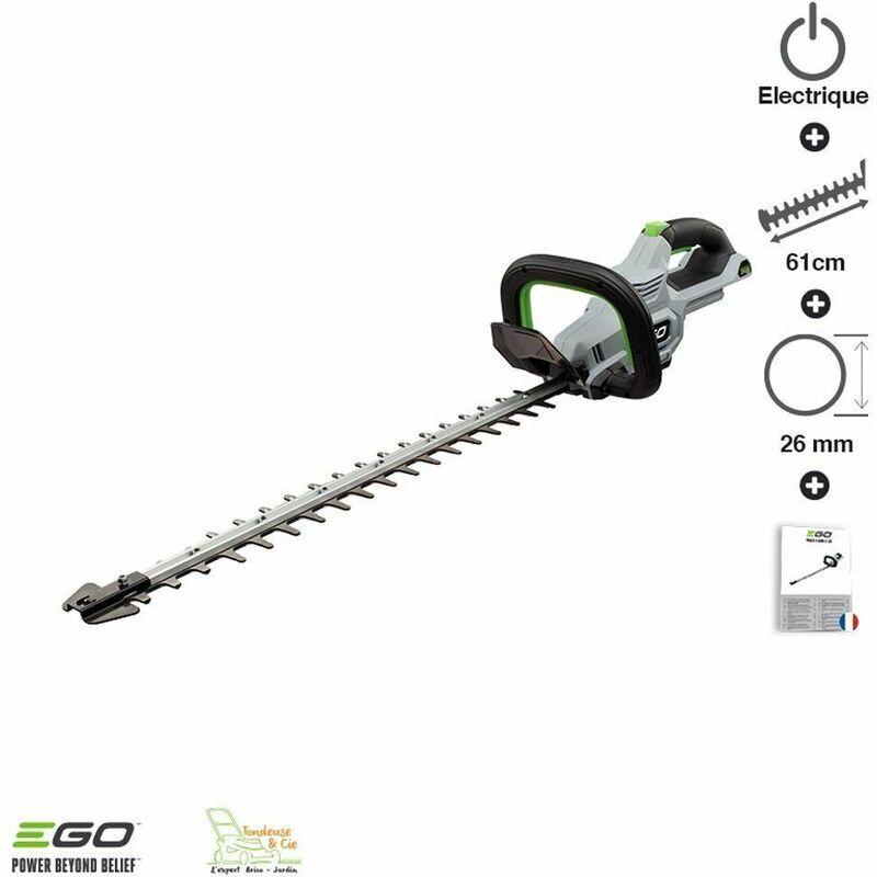 Ego Power+ - Taille haie sans fil lame double 60 cm Egopower coupe 2,6 cm