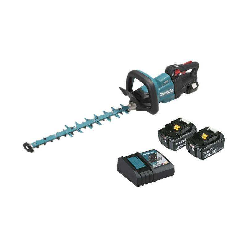 Taille-haie MAKITA 18V – 2 batteries BL1850B 5.0Ah – 1 chargeur rapide DC18RC DUH502RT2