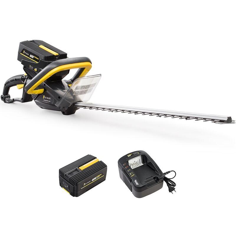 Taille-haies sans fil à batterie, 40 V + batterie 2 Ah + chargeur – Gt Elec