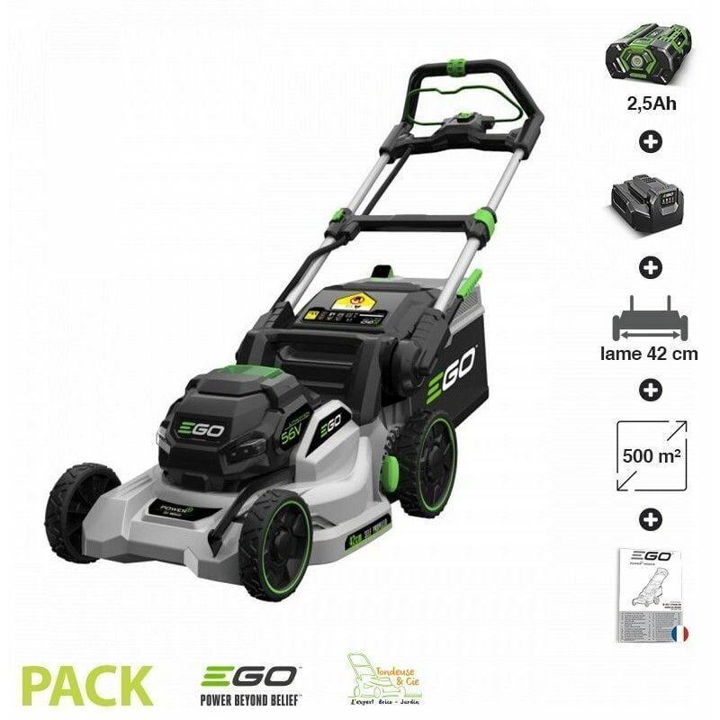 EGO POWER+ Tondeuse électrique tractée à batterie EGO Power+ coupe 42 cm pack batterie